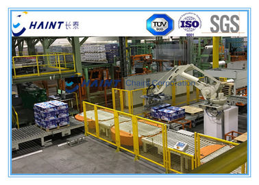 Paper Mill Automatic Palletizing System With Robot Handling 30 M / Min CE Certification
